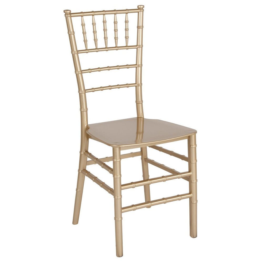 Flash Furniture LE-GOLD-M-GG HERCULES Series Gold Resin Stacking Chiavari Chair