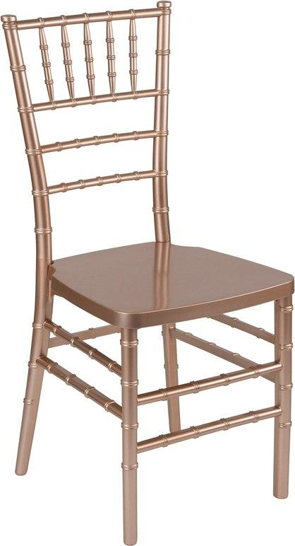 Flash Furniture LE-ROSE-GG HERCULES PREMIUM Series Rose Resin Stacking Chiavari Chair