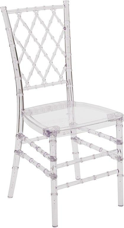 Flash Furniture Y-4-GG Flash Elegance Crystal Ice Stacking Simplicity Chair