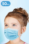 3-Layer Disposable Masks for Kids (50 Masks per Box)