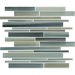 4 x 6 Sample Beach Break Hand Painted Linear Glass Mosaic Tiles