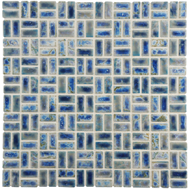 Arcadia Weave Neptune Blue 12 x 12 Inch Porcelain Floor and Wall Tile
