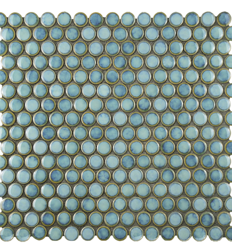 Penny Marine 12 x 12 Inch Porcelain Mosaic Floor and Wall Tile