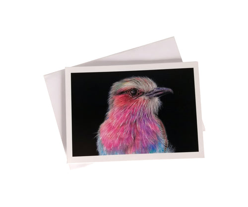 'Amahle, the Lilac Breasted Roller Bird' Greetings Card