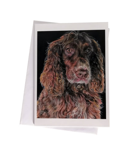 'Cookie, the Cocker Spaniel' Greetings Card