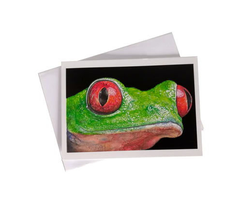 'Finn, the Tree Frog' Greetings Card