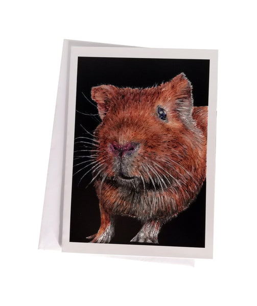 'Ginny, the Guinea Pig' Greetings Card