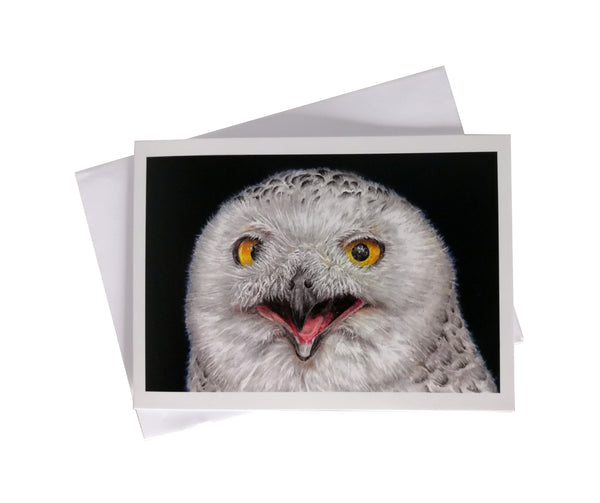 'Olga, the Snowy Owl' Greetings Card