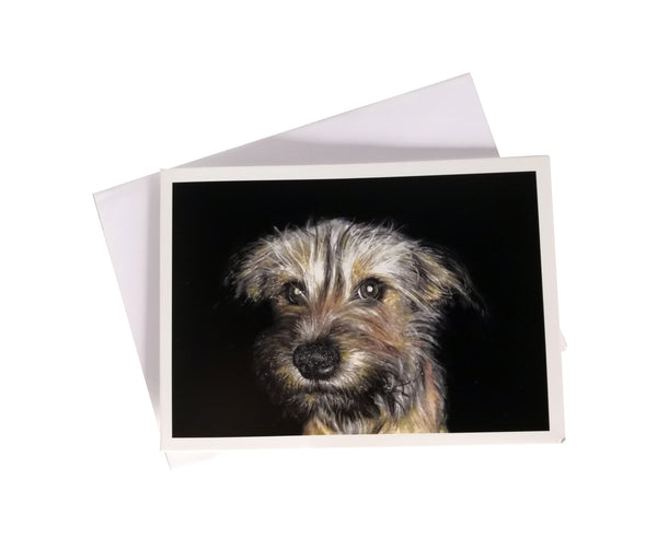 'Poppy, the Terrier Cross' Greetings Card