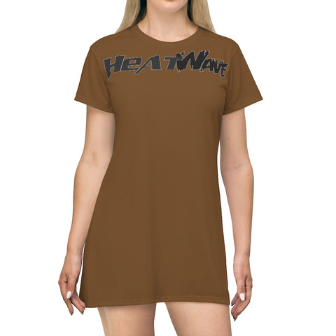 Chocolate Black Collection HEATWaveAll Over Print T-Shirt Dress