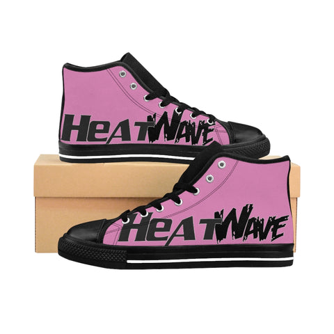 Pink Black Collection HEATWave Women's High-top Sneakers