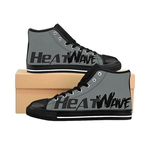 Silver Black  Collection Men's High-top Sneakers