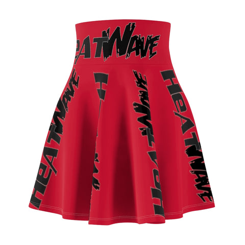 Fire Red Black Collection HEATWave Women's Skater Skirt