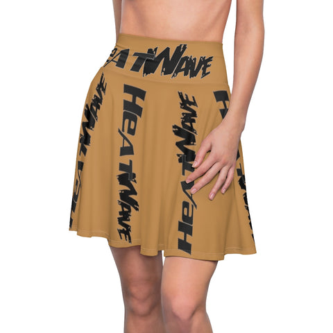 Tan Black Collection HEATWave Women's Skater Skirt