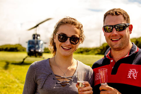 Bubbly and Chocolates Helicopter Flight for two
