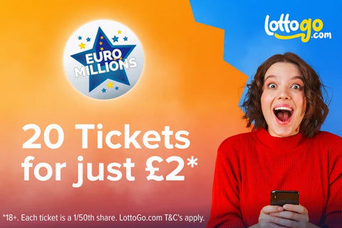 20 EuroMillions Tickets For £2*