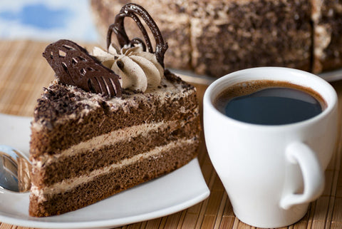 Cake and Large Coffee Each for Two