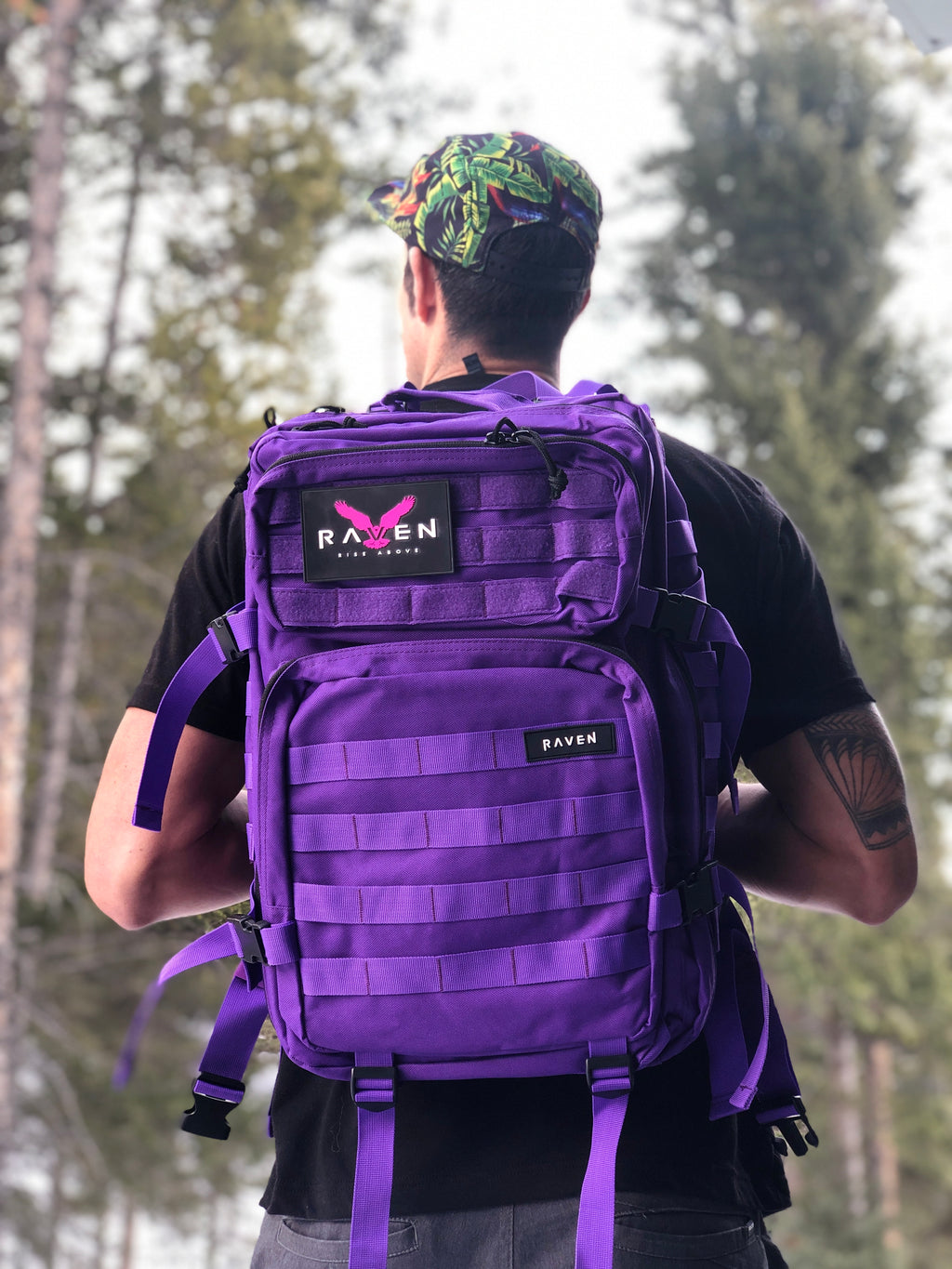 Purple and Black backpack