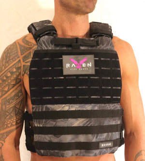 black camo weight vest