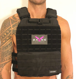 black weight vest