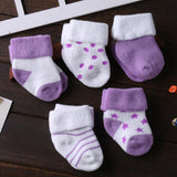 5 Pair/lot new cotton thick baby toddler socks - 1-Stop-Offers