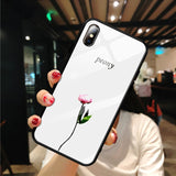 Pattern Stained Tempered Glass Case For iPhone - 1-Stop Offers