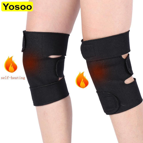 1 Pair Tourmaline Self Heating Knee Pads Magnetic Therapy Kneepad Pain Relief Arthritis Brace Support Patella Knee Sleeves Pads - 1-Stop-Offers