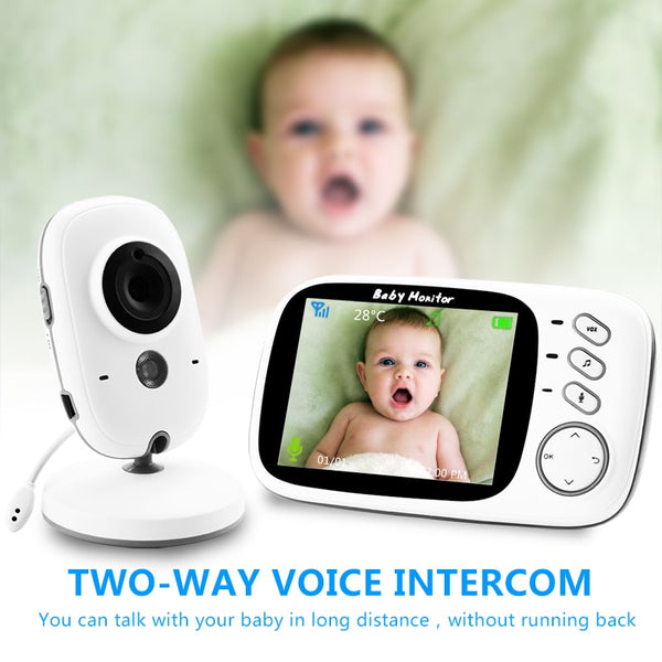 Wireless Video Baby Monitor with 3.2Inches LCD 2 Way Audio Talk Night Vision - 1-Stop-Offers