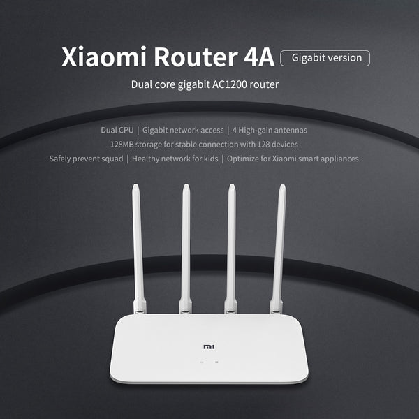 Xiaomi Router 4A Gigabit Version 5GHz WiFi Router Dual Band - 1-Stop-Offers