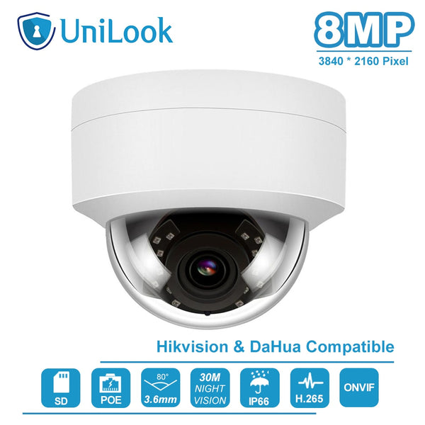 Hikvision Compatible 4K 8MP Dome Outdoor Security Camera - 1-Stop-Offers