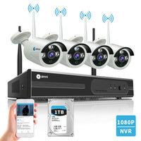 Anni Wireless 4CH 1080P NVR Security Camera System Outdoor Video CCTV 1TB HDD  709202532424 | eBay - 1-Stop Offers