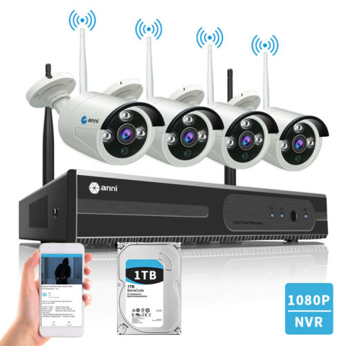 Anni Wireless 4CH 1080P NVR Security Camera System Outdoor Video CCTV 1TB HDD  709202532424 | eBay - 1-Stop-Offers