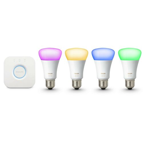 Philips Hue Gen 3 60W A19 White & Color Ambiance Smart 4 Bulb Kit - 471960 46677471965 | eBay - 1-Stop-Offers