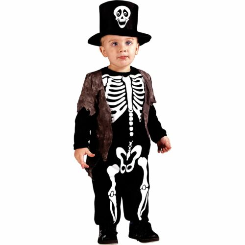 Happy Skeleton Halloween Costume for Toddler Boys, with Top Hat  | eBay - 1-Stop Offers