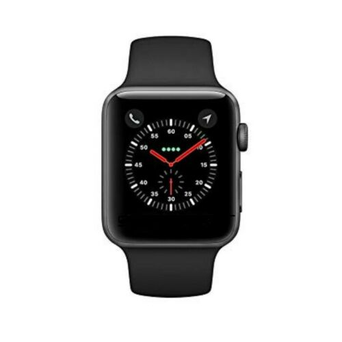 Apple Watch Series 3 42mm GPS Space Gray Aluminum Black Sport Band MQL12LL/A 190198509598 | eBay - 1-Stop-Offers