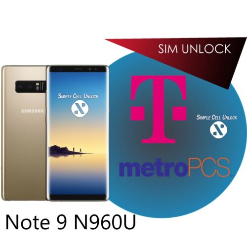 Samsung Galaxy T-Mobile MetroPCS Note 9 SIM Network Unlock Service PERMANENT!  | eBay - 1-Stop-Offers