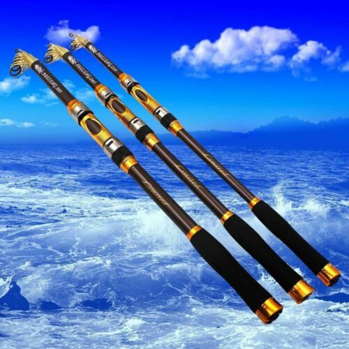 Telescopic Fishing Rod Spinning Fish Hand Tackle Sea Carbon Fiber Pole US Ship! - 1-Stop-Offers