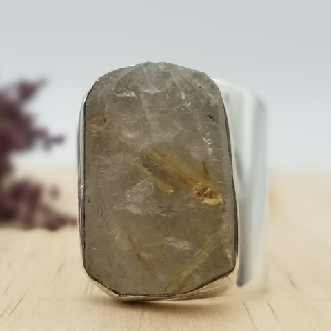 Golden Rutile Cuff Ring