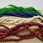 Bone Bead Necklace with Horn Clasp