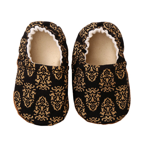 Baby Booties - Black/Gold