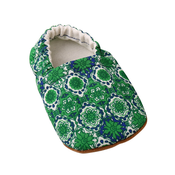 Baby Booties - Green/Blue
