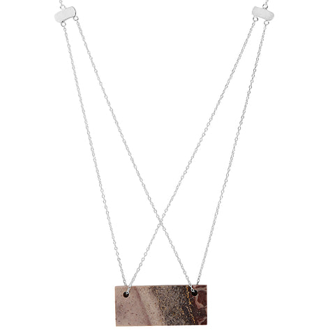 Porcelain Jasper Double Chain Necklace