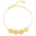 Load image into Gallery viewer, Gold Tone Mini Disc Bracelet