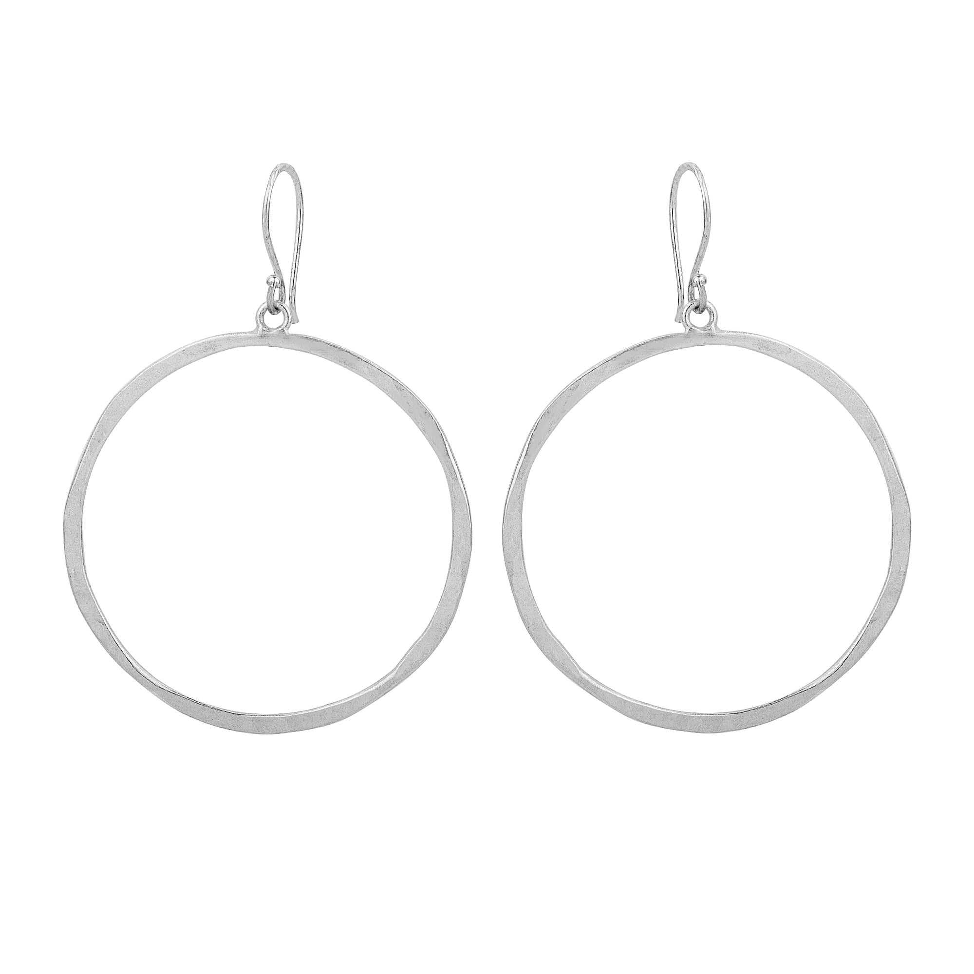 Full Circle Hammered Hoops