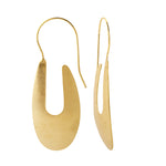 Load image into Gallery viewer, Brass Curve Earrings