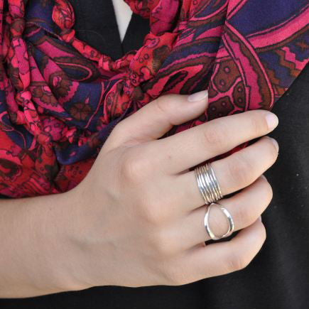 Ring:  Sterling Silver Skinny Stacking Rings