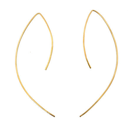 Earrings:  Brass Bow