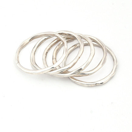 Ring:  Sterling Silver Thick Stacking Rings