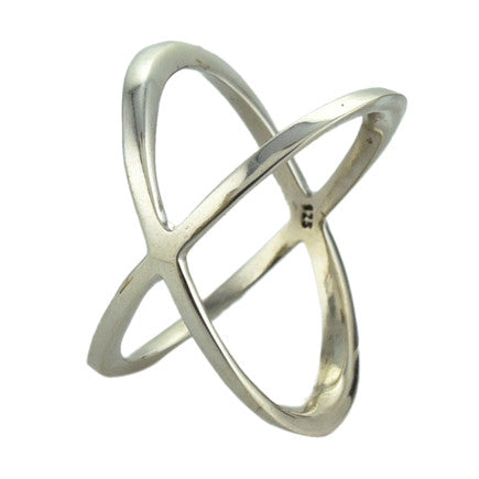 Ring:  Sterling Silver Crisscross Ring