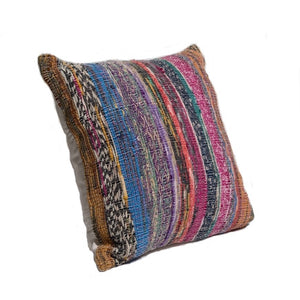 Recycled Vintage Saree Pillow Cover - Square